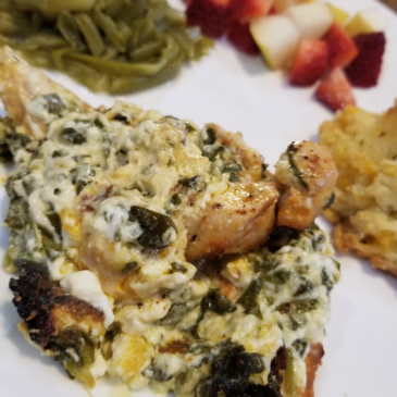 Creamy Spinach Stuffed Chicken Breast