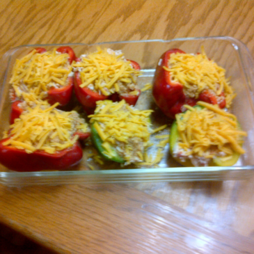 Chicken & Cream Cheese Stuffed Peppers