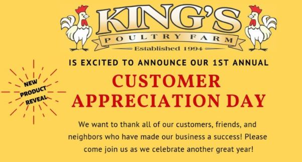 Customer Appreciation – Saturday, April 27th