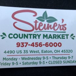 Sampling Event at Steiner's Country Market, Eaton – May 11th